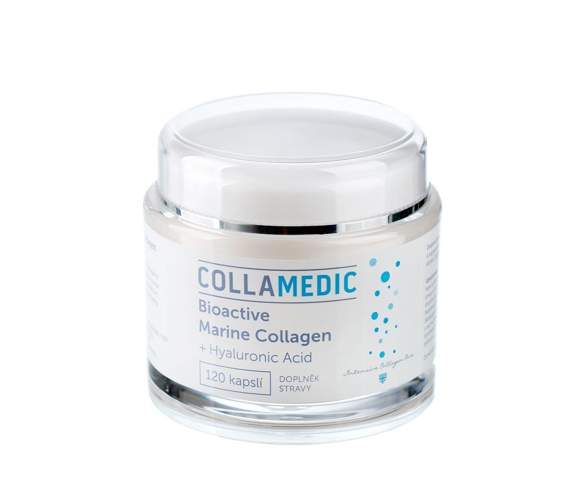 Bioaktivní mořské kolagenové kapsle Collamedic s kyselinou hyaluronovou – 120 kapslí